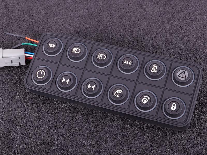 CAN keypad (12 keys) multi color LED