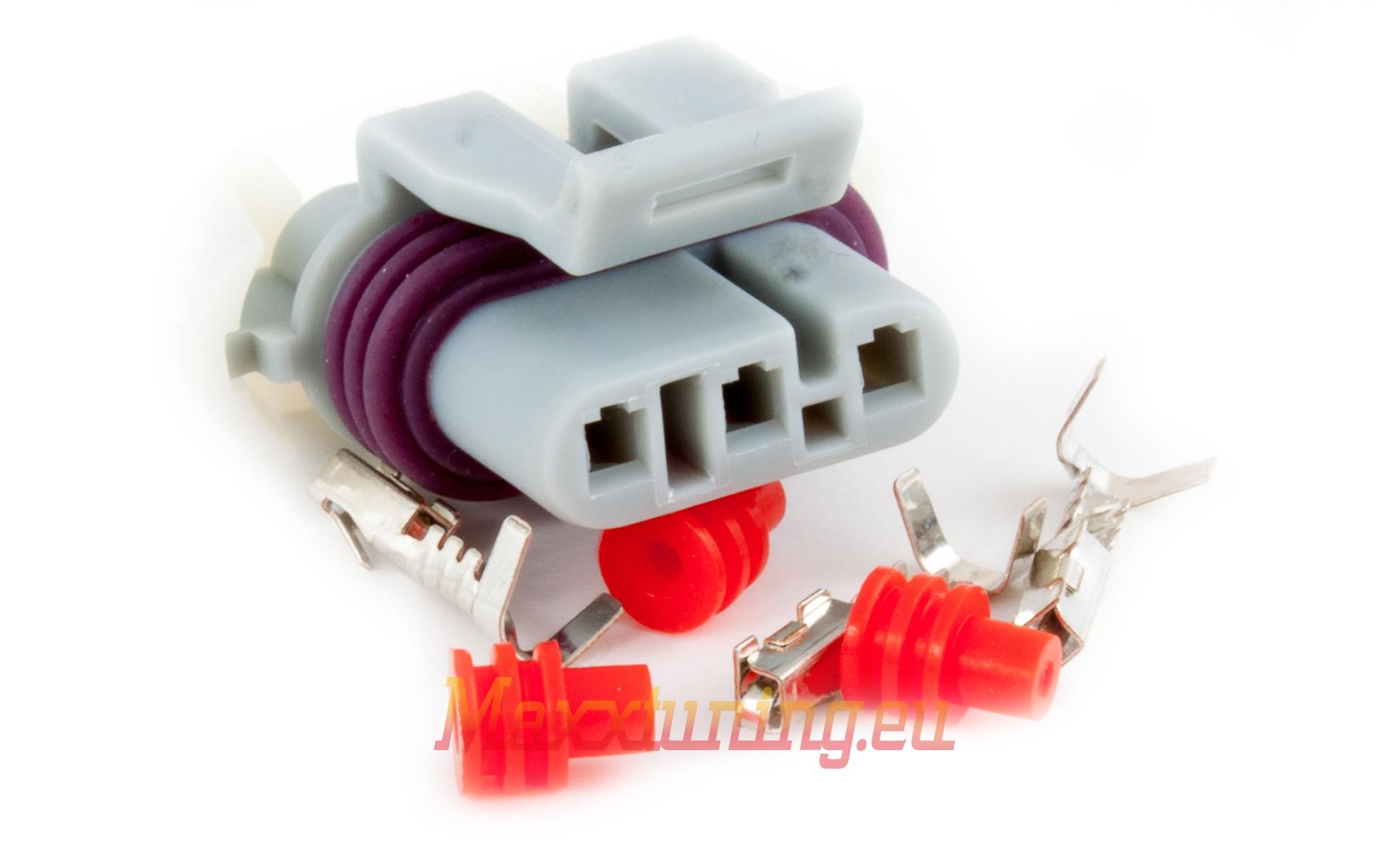 Connector 3-way socket housing (LS7 MAP-sensor) - Maxxtuning AB