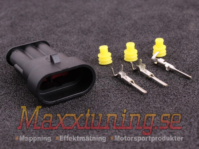 Connector 3 Pin Housing Superseal Maxxtuning Ab