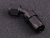 Hose fittings 45 degree AN12 black, 360 degree rotatable for AN hose